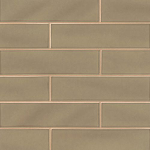 "Provincetown 4"" x 16"" Floor & Wall Tile in Highland Brown"