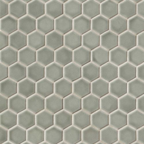 "Provincetown 1-11/16"" x 1-1/2"" Floor and Wall Mosaic in Monument Grey"