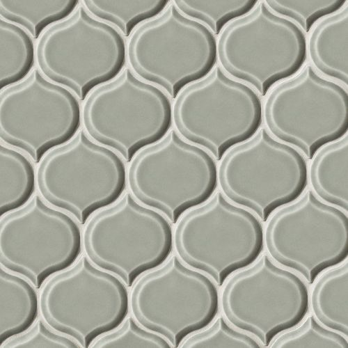 "Provincetown 3-1/16"" x 2-7/8"" Wall Mosaic in Monument Grey"