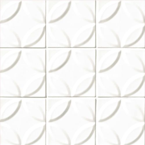 "Provincetown 6"" x 6"" Decorative Tile in Porch White"