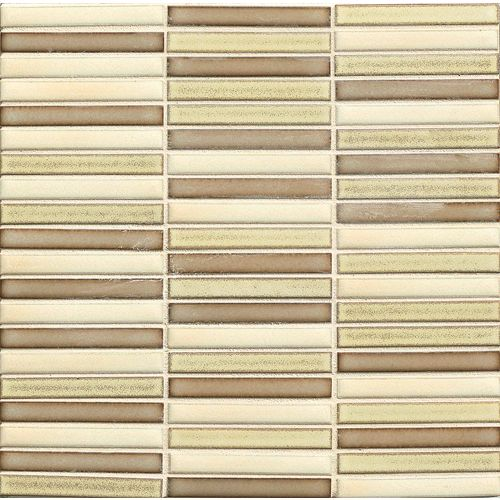 "Shizen 1/2"" x 4"" Floor & Wall Mosaic in Desert Blend"