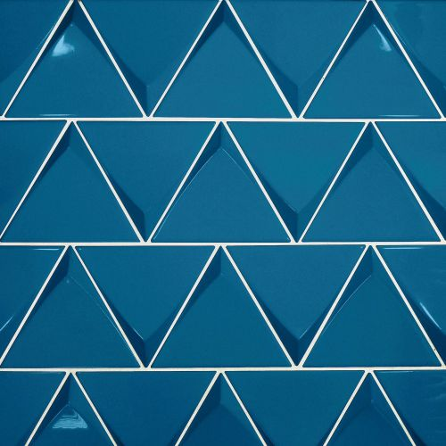 "Triangolo 4.5"" x 5"" Wall Tile in Electric Blue"