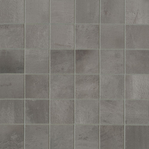 "Chateau 2"" x 2"" Floor and Wall Mosaic in Smoke"