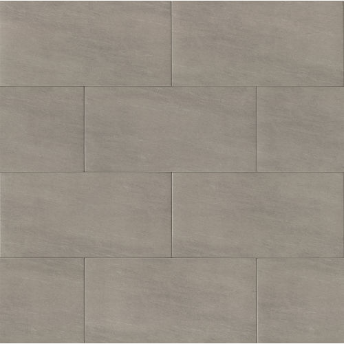 "Moonstone 12"" x 24"" Floor & Wall Tile in Light Grey"