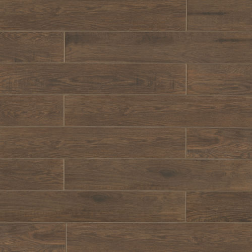 "Woodmark 6.13"" x 35.69"" Floor & Wall Tile in Walnut"