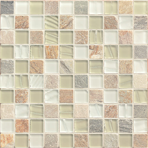 "Elume 1-1/4"" x 1-1/4"" Wall Mosaic in Champagne"