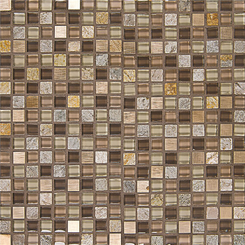 "Elume 5/8"" x 5/8"" Wall Mosaic in Maple Rum"