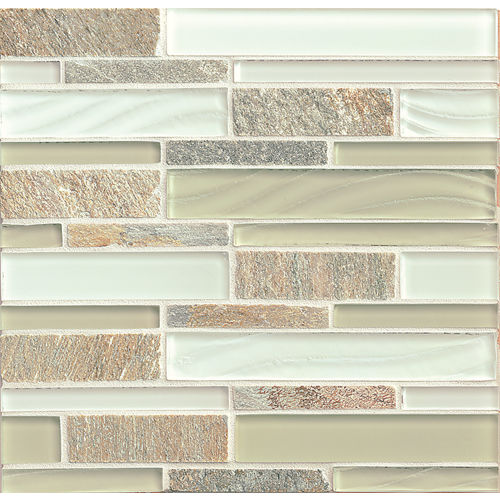 Elume Wall Mosaic in Champagne