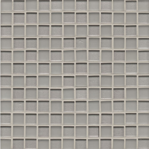"Manhattan 1"" x 1"" Wall Mosaic in Platinum"