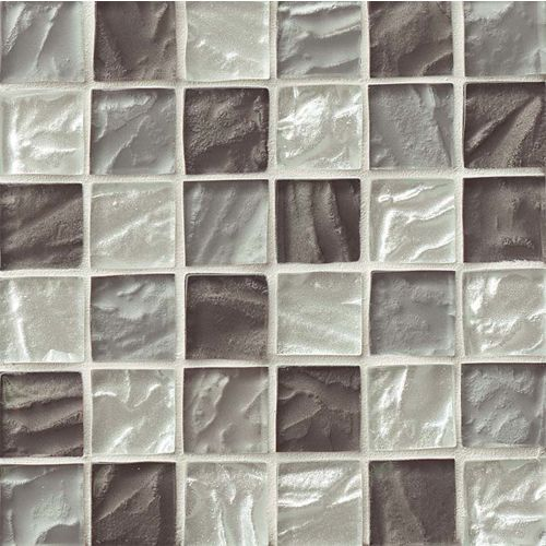 "Priscilla 1-7/8"" x 1-7/8"" Wall Mosaic in Grey Taupe Mix"