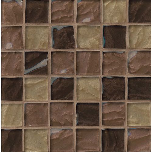"Priscilla 1-7/8"" x 1-7/8"" Wall Mosaic in Beige Mix"