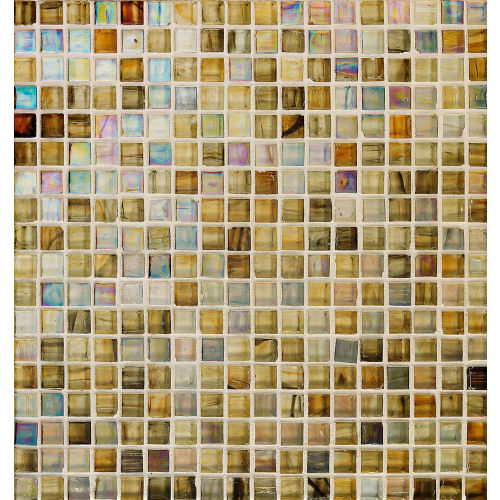 "Pool Tile 3/4"" x 3/4"" Wall Mosaic in Burnt Sand"