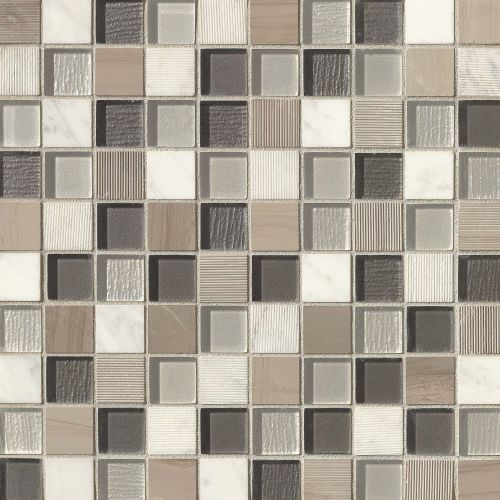 "Verve 1-1/8"" x 1-1/8"" Wall Mosaic in Dash"