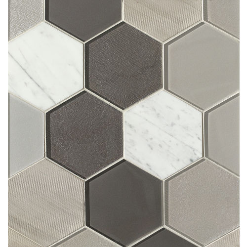 "Verve 4-7/8"" x 5-5/8"" Wall Mosaic in Dash"