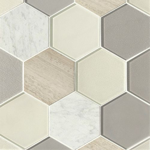 "Verve 4-7/8"" x 5-5/8"" Wall Mosaic in Impulse"