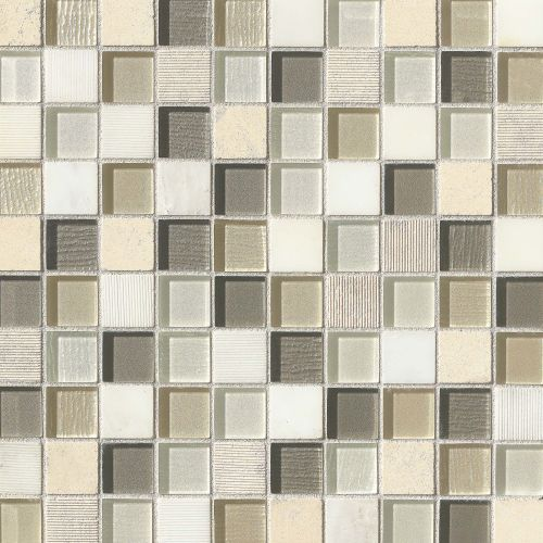 "Verve 1-1/8"" x 1-1/8"" Wall Mosaic in Sparkle"