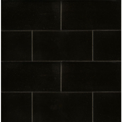 "Absolute Black 3"" x 6"" x 3/8"" Floor and Wall Tile"