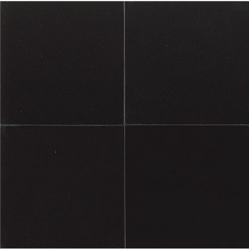 "Absolute Black 24"" x 24"" x 5/8"" Wall Tile"