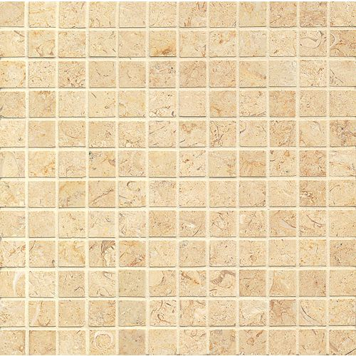"Royal Oyster Satin 1"" x 1"" Floor & Wall Mosaic"