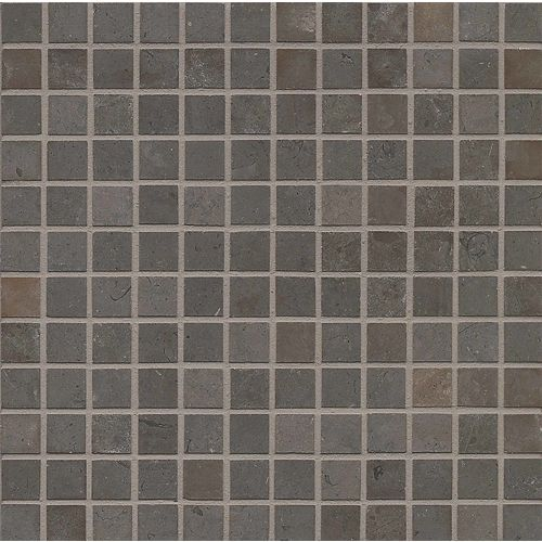 "Vogue Brown Brushed 1"" x 1"" Floor & Wall Mosaic"
