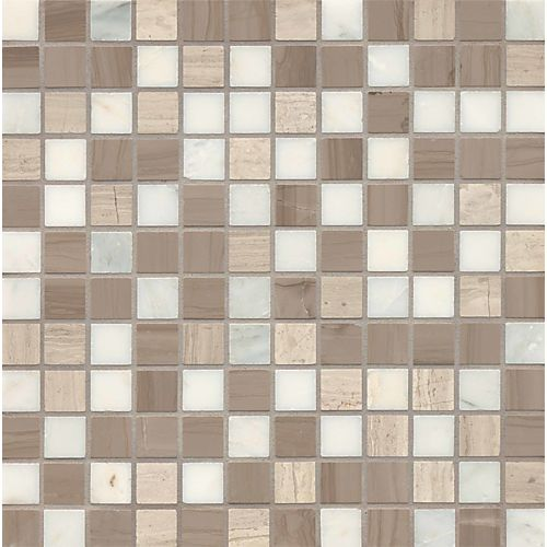 "Maison 1"" x 1"" Floor & Wall Mosaic in Penthouse Blend 1x1 Mosaic"
