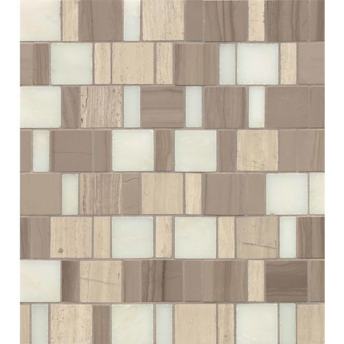 Maison Floor & Wall Mosaic in Penthouse Blend Vintage Patter