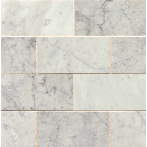 "White Carrara 3"" x 6"" Floor & Wall Tile"