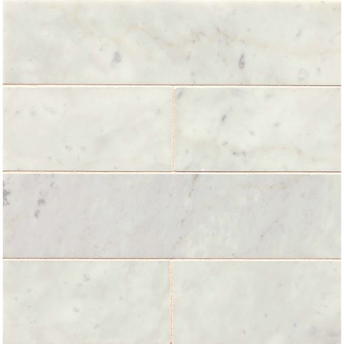 "White Carrara 3"" x 12"" Floor & Wall Tile"