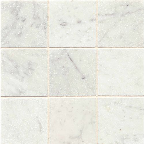 "White Carrara 4"" x 4"" Floor & Wall Tile"