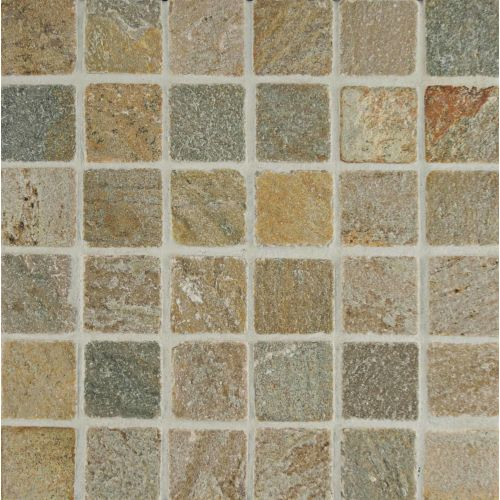 "Amber Gold 2"" x 2"" Floor and Wall Mosaic"