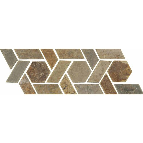 "Slate Liners 4.75"" x 12"" Floor & Wall Listello in Multicolor"