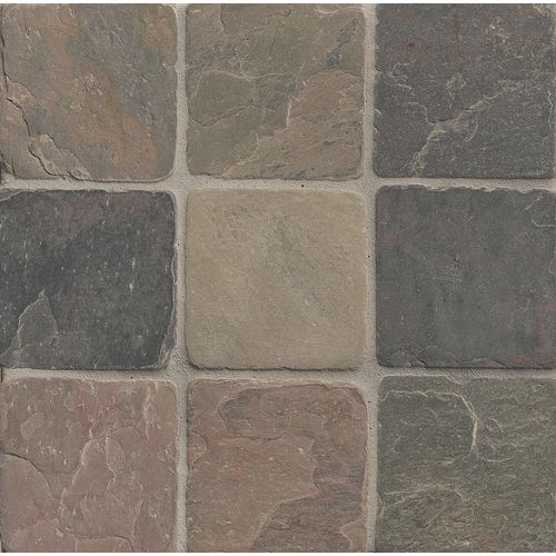 "Rajah Multicolor 4"" x 4"" Floor & Wall Tile"