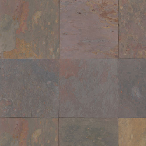 "Rajah Multicolor 16"" x 16"" Floor & Wall Tile"