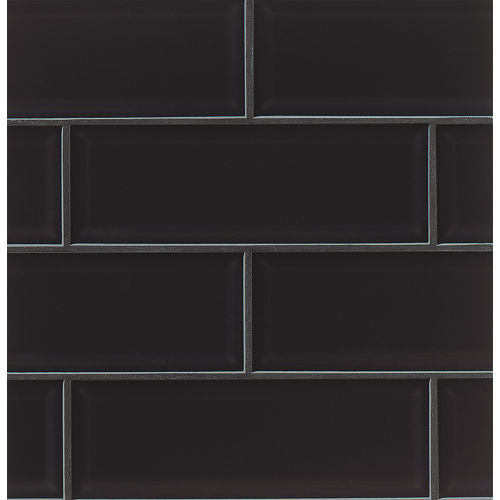 "Adamas 4"" x 12"" x 3/8"" Wall Tile in Ater"