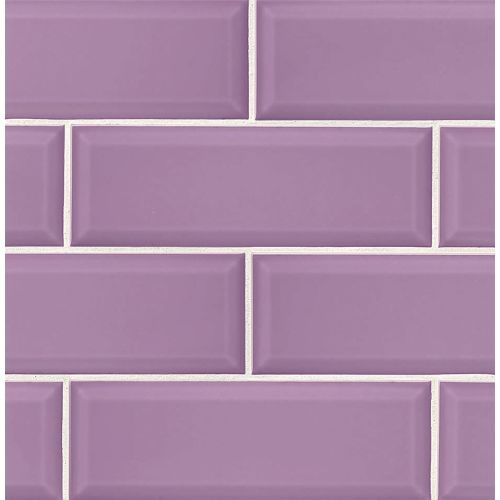 "Adamas 4"" x 12"" x 3/8"" Wall Tile in Viola"