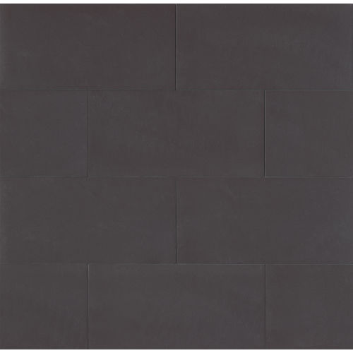 "Area 3D 12"" x 24"" Floor & Wall Tile in Deep Black"