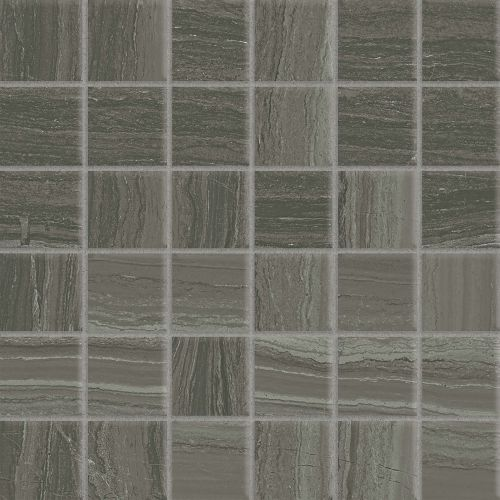 "Highland 2"" x 2"" Floor & Wall Mosaic in Dark Greige"