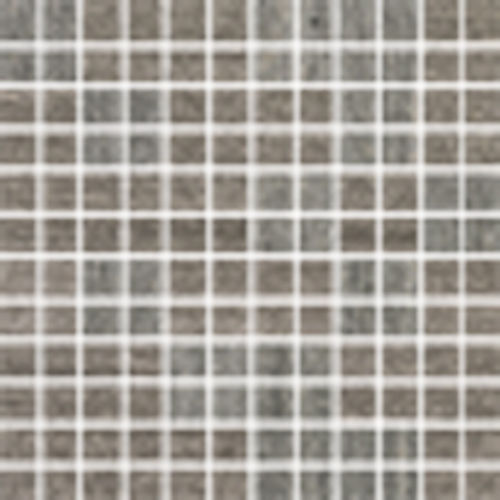 "Materia 3D 1"" x 1"" Floor & Wall Mosaic in Heather Grey"