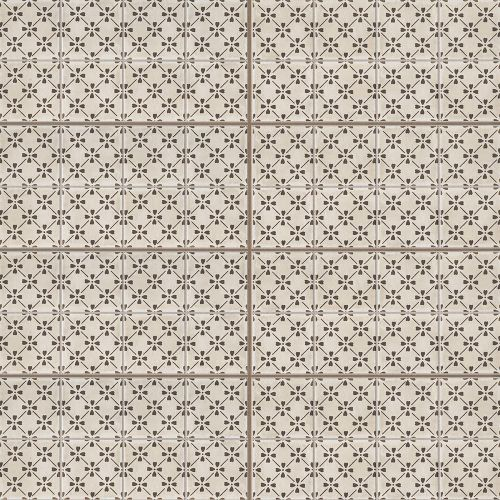 "Palazzo 12"" x 24"" Decorative Tile in Antique Cotto Bloom"