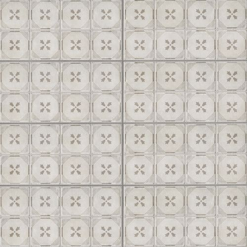 "Palazzo 12"" x 24"" Decorative Tile in Vintage Grey Dynasty"