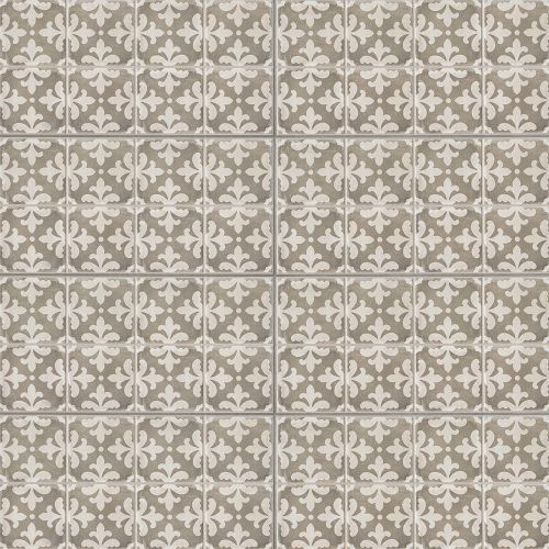 "Palazzo 12"" x 24"" Decorative Tile in Vintage Grey Florentina"