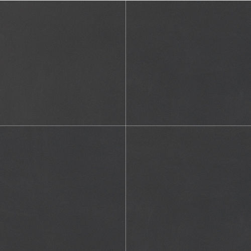"Plane 30"" x 30"" Floor & Wall Tile in True Black Polished"