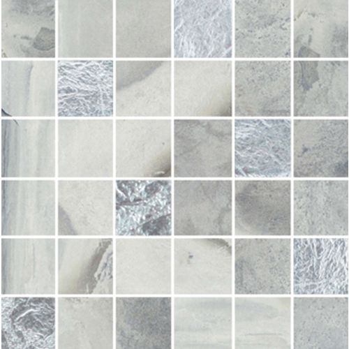 "Raja Slate 2"" x 2"" Floor & Wall Mosaic in Himachel White"