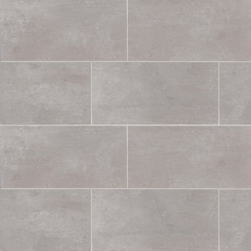 "Simply Modern 12"" x 24"" Floor & Wall Tile in Grey"