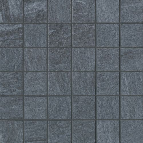 "Urban 2.0 2"" x 2"" Floor & Wall Mosaic in Raven Black"