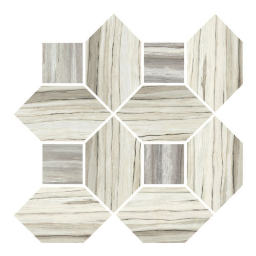 Zebrino Floor & Wall Mosaic in Classico & Bluette