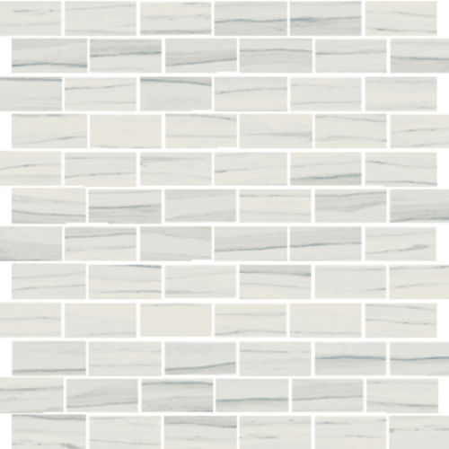 "Zebrino 1"" x 2"" Floor & Wall Mosaic in Michelangelo"