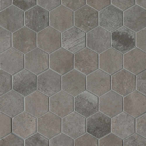 "Clive 2"" x 2"" Floor & Wall Mosaic in Nero"