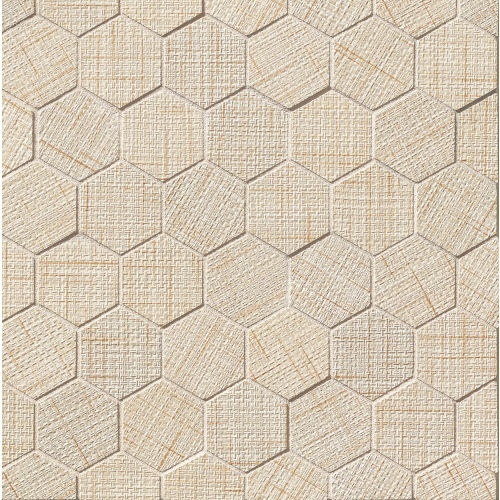 "Lido 2"" x 2"" Floor and Wall Mosaic in Almond"
