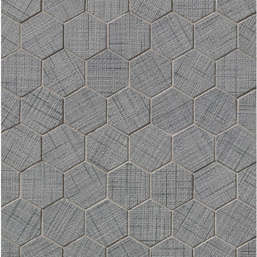 "Lido 2"" x 2"" Floor & Wall Mosaic in Gray"